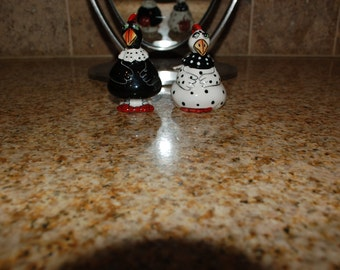 Blue Sky Hen and Rooster Salt & Pepper Shakers