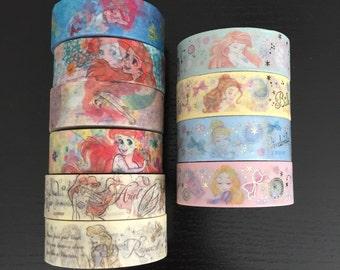 "24"" SAMPLES of Disney princess washi tape (D05)"