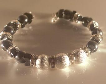 Hematite moon bracelet