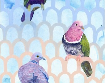 Doves, limited edition print