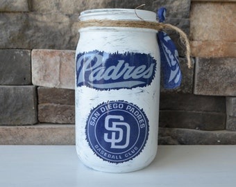 San Diego Padres Decorative Mason Jar