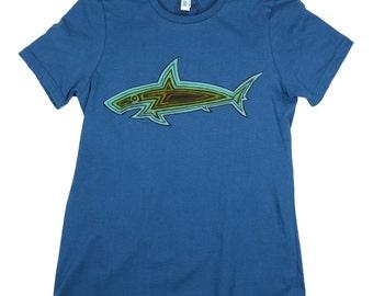 Shark Woodie: ORGANIC Cotton American Apparel Ladies Tee