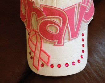 Brave Breast Cancer Baseball Hat