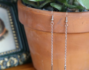 Silver or Gold Chain Earrings