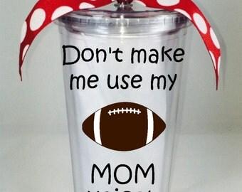Football Mom Tumbler, Football Mom Tumbler, Custom Football Mom Tumbler, Football Tumbler, Custom Football Tumbler, Football Mom Cup