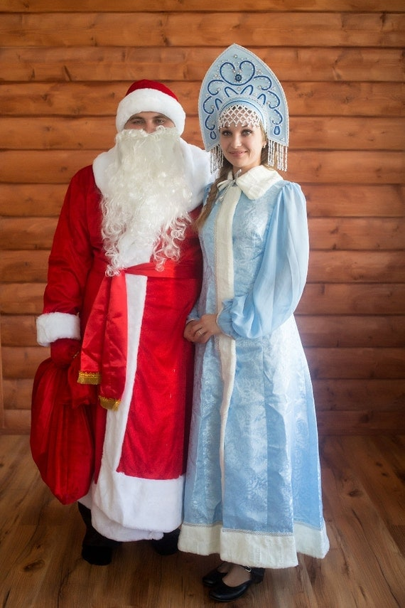 Snow maiden suit russian santa claus snegurochka
