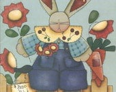 Tole Painting Craft project Book By Cheri - A Pocketful of Posies - Bunnies - Spring - Easter Wood Crafts