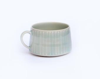 Short and Sweet Striped Mug