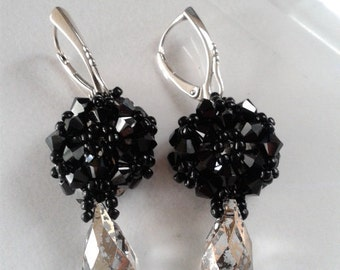 Beautiful, unique earrings with Swarovski crystals