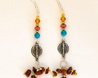 Ethnic bohemian style earrings