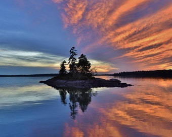 Flair for the Dramatic - Another beautiful sunset at Lookout Point in Harpswell, Me.