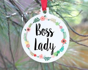 Boss Lady Ornament, Best Boss Gift, Manager Gift, Boss Lady Gift, Entrepreneur Gift, Girl Boss Ornament, Girlfriend Gift, Friend Gift