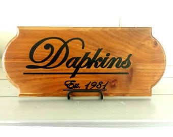 Personalized Wood Sign Plaque with Family Name & Wedding Date