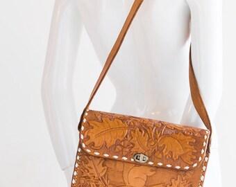 Hand Tooled Handbag | Hand Tooled Crossbody  | Vintage Handbag | Boho Crossbody | Handmade Handbag|  Mexican Handbag | Vintage Leather Purse