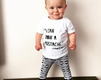 Mustaches - Baby Leggings, Toddler Leggings