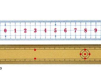 mt Ruler Washi Tape - Blue - Bamboo.