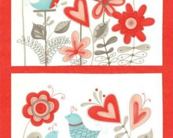 "Moda Flirt 24"" Panel 17700-12 By Sandy Gervais"