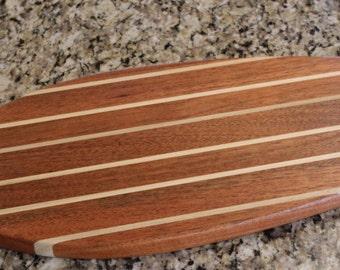 boat silhouette cutting board/cheese board