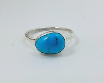Persian Turquoise Stacking Silver Ring