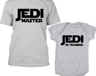 Star Wars Matching Shirts, Star Wars Shirt Kids, Jedi Shirt, Jedi Master Shirt, Jedi In Training Shirt, Dad and Baby Matching Shirts