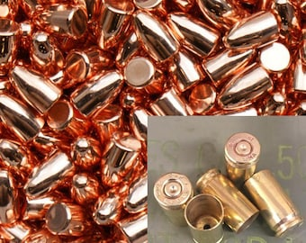 124 gr 9mm Brass and Plated FMJ Bullet Combo - Cleaned & Polished - 250 Count Available - Reloading or Craft