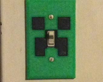 Minecraft Inspired Light Switch Cover Plate - Free US Shipping