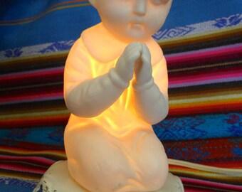 Vintage Praying Child Nightlight