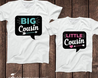 Big Cousin Little Cousin Shirts Girl and Boy Matching Cousin Shirts - Big Cousin Little Cousin Outfits - Matching Cousin Outfits Set of 2