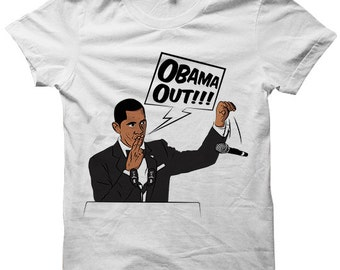 Obama Out T-shirt Barack Obama Tee President Obama Shirt Ladies Tee Mens Shirts Plus Sizes Correspondent's Dinner 2016 Funny Shirt Cute Gift