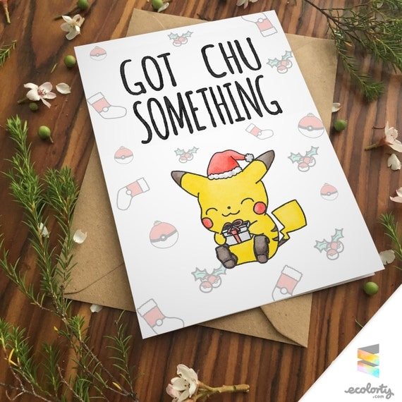 Pikachu (Pokemon) Christmas Card