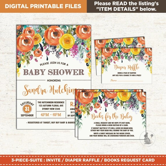 Autumn baby shower invitation package 3 piece suite fall baby il570xn filmwisefo
