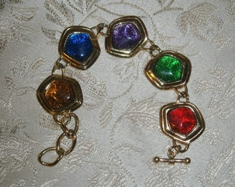 Avon KJL Colored Stone Bracelet