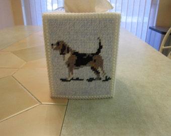 Plastic Canvas Beagle Tissue Box