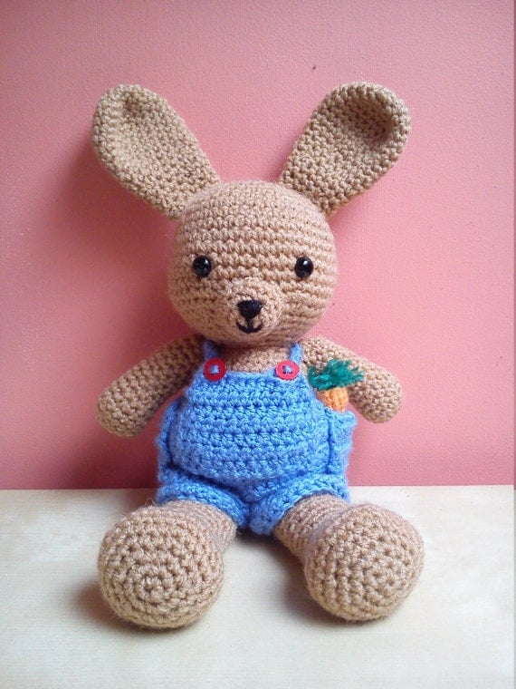 Buddy Brown Bunny Dress up bunny amigurumi boy rabbit. Cute