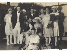 C1920 Candid Photo Cross dressing men in Bad Make up