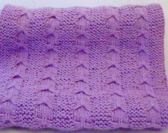 Knitted item butterflies 170 cm purple scarf