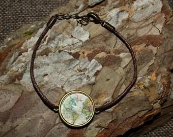 "Cabochon bracelet ""Wanderlust"" 20mm"
