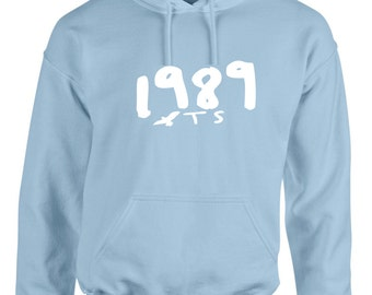 1989 Seagull T S Pullover Hoodie World Tour Light Blue