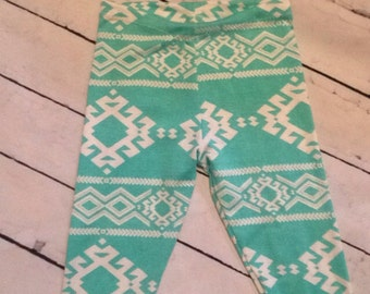 Aztec baby leggings, boho, baby tights with or without headband