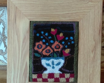Framed Russian Punchneedle