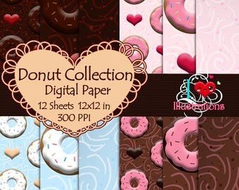 Digital Paper: Donut Collection