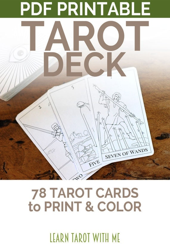 Terrible image pertaining to printable tarot deck