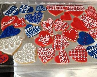 Valentines Day Be Mine Cookies
