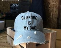 Clifford is my Bae, Michael Clifford Baseball Cap,5 Seconds of Summer, Denim Cap, Jean Cap, Low-Profile Baseball Cap Baseball Hat