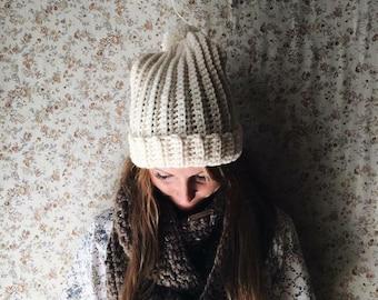 Chunky Knit Textured Beanie {Creamery}