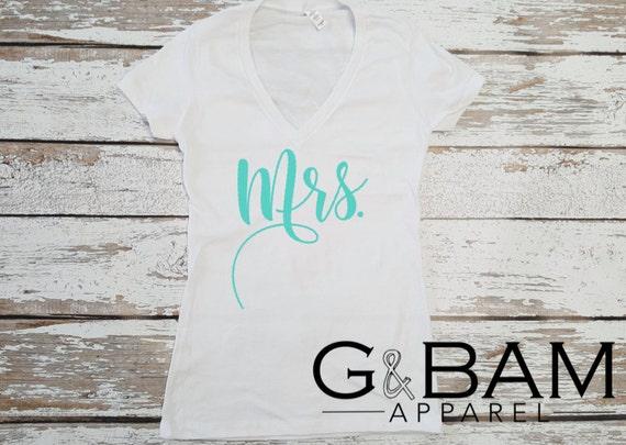 Mrs T-Shirt / Bride Gift Shirt / Bride Shirt / Bridal Shirts
