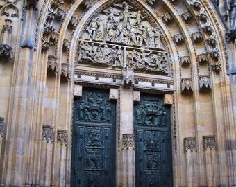 Castle Church Doors, Prague, Czech Republic