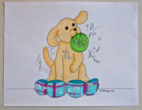 American Girl Inspired Daisy Pet Bed Coloring Page Handmade