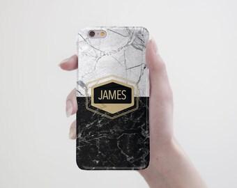 Marble Monogram iPhone Case iPhone 7 Case Personalized iPhone 6s Case Black Marble iPhone 7 Plus Case Phone 6S Plus Case Monogram RR_067