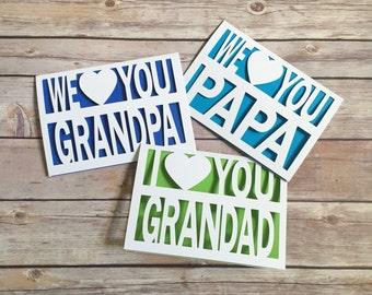 Fathers Day Card, Grandpa Card, Papa, Grandfather, Grandparents, Grandad, Father's Day, Grandpa Birthday, Fathers Day Gift, Grandpa Gift